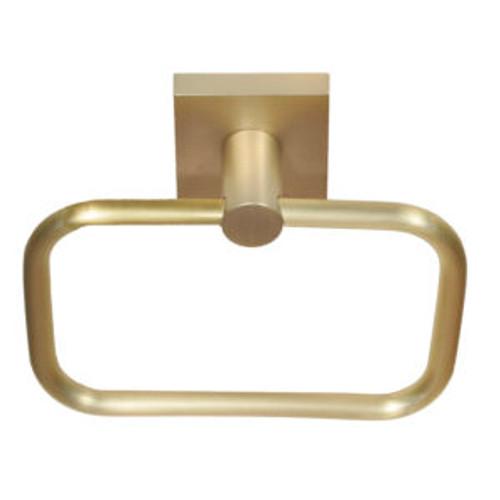 Tiburon Satin Brass Towel Ring