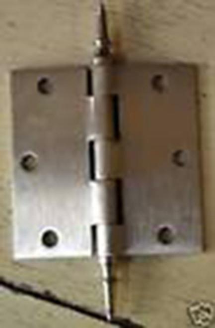 """Satin Nickel 3.5"""" X 3.5"""" X Square Corner Door Hinge with Steeple Tip"""