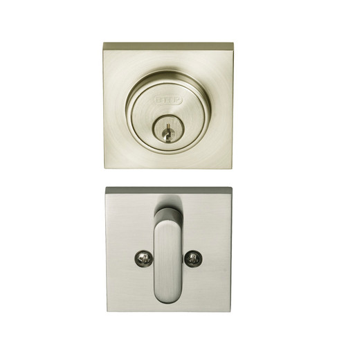 Satin Nickel Single Cylinder Tiburon Low Profile Deadbolt