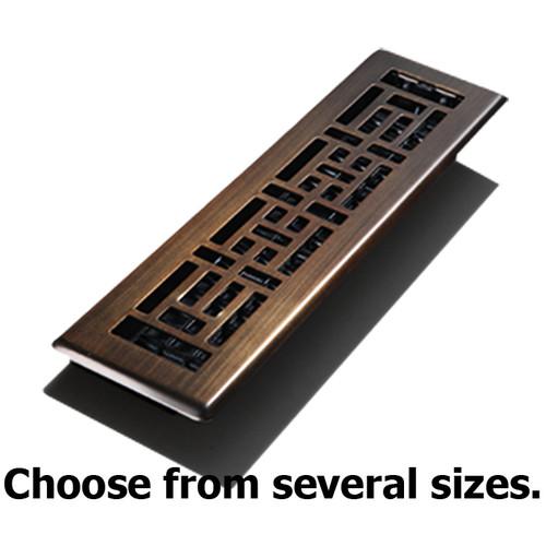 Oil Rubbed Bronze Oriental Steel Floor Register