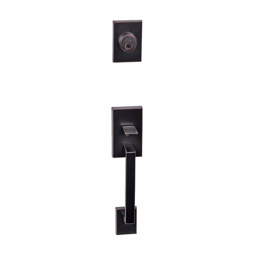 Dark Bronze Tiburon Front Door Entry Handleset by Better Home Products, sold by Complete Home Hardware.