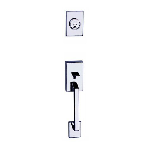 Chrome Tiburon Front Door Entry Handleset by Better Home Products, sold by Complete Home Hardware.