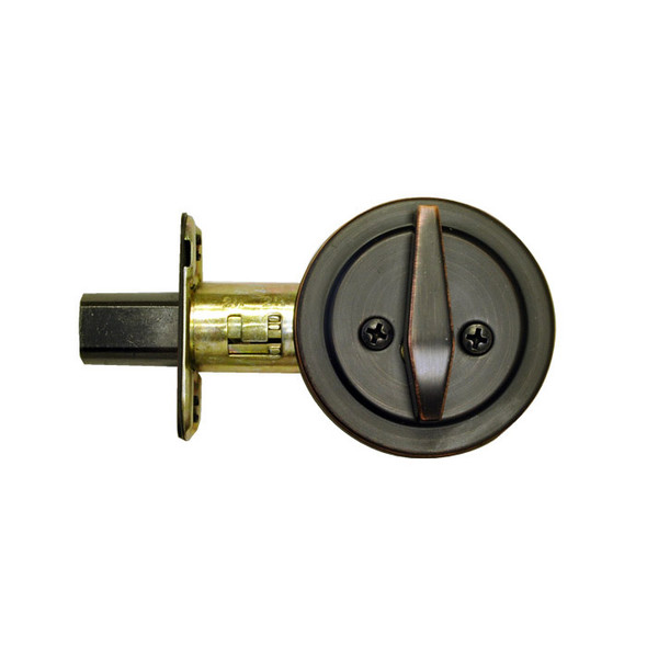 Dark Bronze One-Sided Keyless Deadbolt