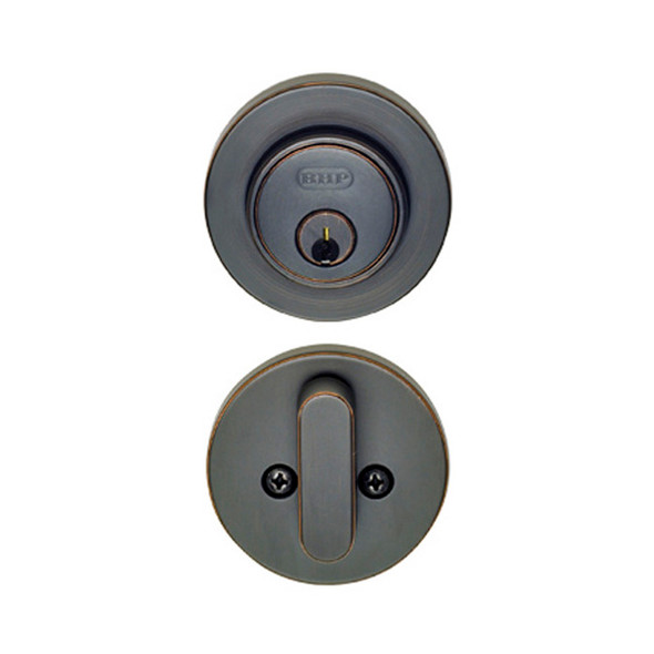 Dark Bronze Single Cylinder Skyline Low Profile Deadbolt