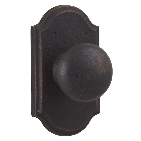 Molten Bronze Wexford Reversible Passage Door Knob with Premiere Rosette - Oil Rubbed Bronze