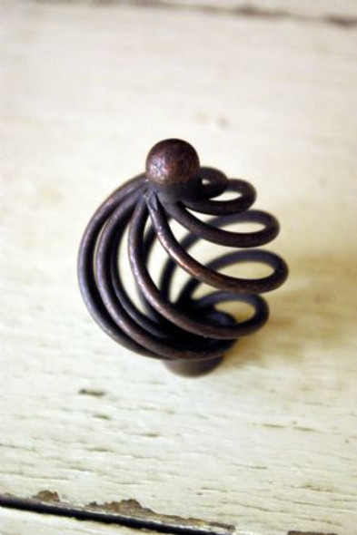 Oil Rubbed Bronze Round Birdcage Knob by Everything Doors