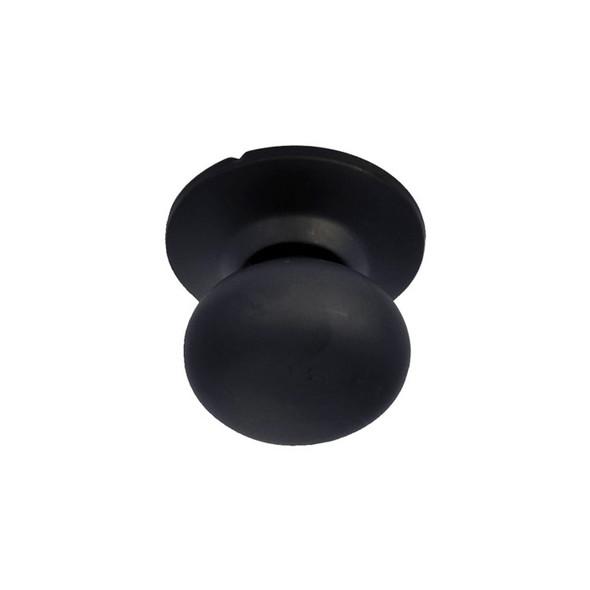 Matte Black Noe Valley Mushroom BHP Handleset Interior Trim Knob