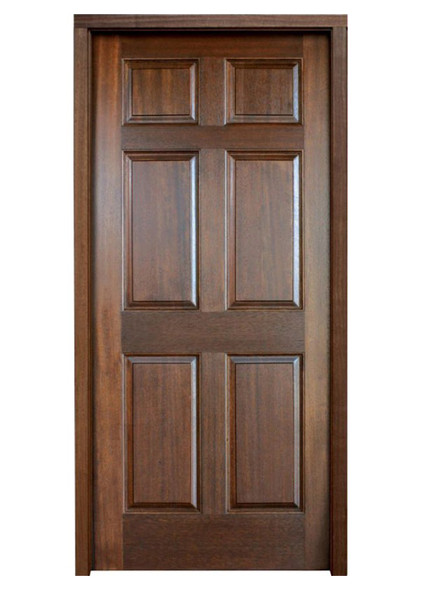 Mahogany Colonial Six Panel Single Door