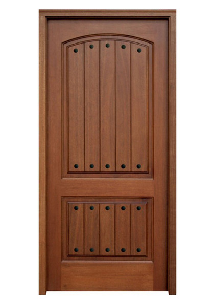 Mahogany Decatur Hendersonville Single Door with Clavos