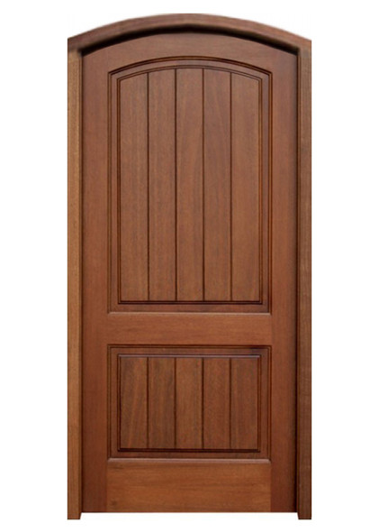 Mahogany Decatur Hendersonville Single Arch Top Door