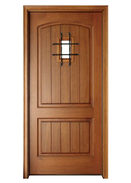 Mahogany Decatur Hendersonville Single Door with Speakeasy and Grille