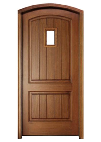 Mahogany Decatur Hendersonville Single Arch Top Door with Speakeasy