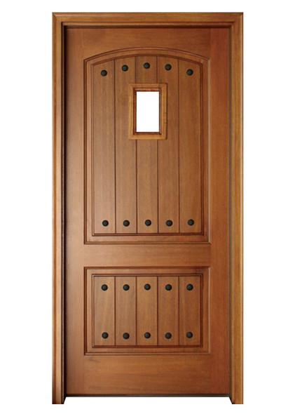 Mahogany Decatur Hendersonville Single Door with Speakeasy and Clavos