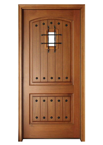 Mahogany Decatur Hendersonville Single Door, Speakeasy with Grille and Clavos