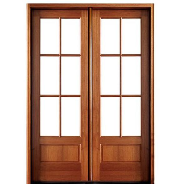 Alexandria 6Lt 8/0 E-04 Solid wood double door system by DSA Doors