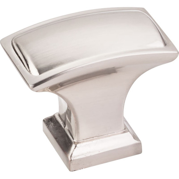 "Satin Nickel 1-1/2"" Annadale Decorative Pillow Cabinet Knob (435L-SN)"