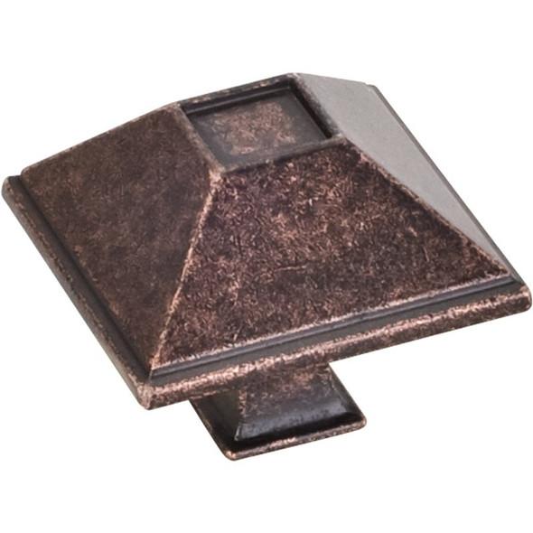 "Distressed Oil Rubbed Bronze 1-1/2"" Tahoe Decorative Rustic Cabinet Knob (602DMAC)"