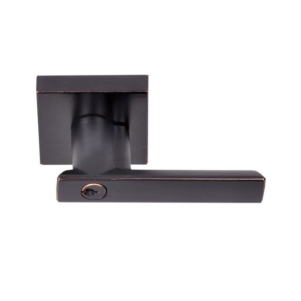Dark Bronze Santa Cruz Reversible Entry Lever (91511DB) by Better Home Products. Sold by Complete Home Hardware. Franklin, TN