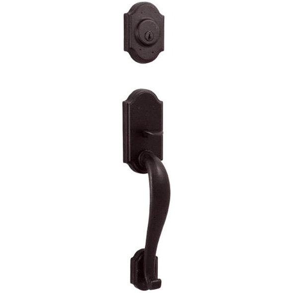 Molten Bronze Castletown Front Door Handleset - Oil Rubbed Bronze by Weslock