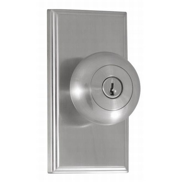 Weslock Satin Nickel Impresa Keyed Entry Knob With Woodward Rosette (3740ININSL22) Preferred Supplier- Complete Home Hardware Franklin, TN 615-794-3880