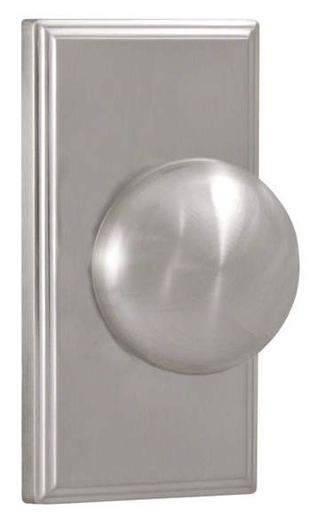 Weslock Satin Nickel Impresa Dummy Knob With Woodward Rosette (3705IN--0020) Preferred Supplier- Complete Home Hardware Franklin, TN 615-794-3880