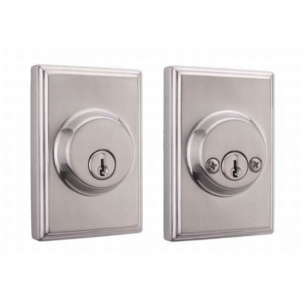 Satin Nickel Woodward Double Cylinder Rectangular Deadbolt ( 3772-N-NSL22) Weslock and preferred vendor Complete Home Hardware Franklin, TN 615-794-3880
