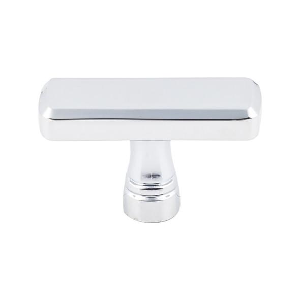 "Kingsbridge Knob 2 3/8"" - Polished Chrome Glass Kitchen Cabinet Drawer Interior Pulls Latch Knockers Hinges Hardware"