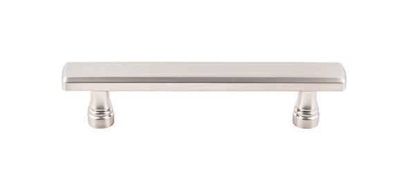 "Kingsbridge Pull 5 1/16"" (c-c) - Brushed Satin Nickel Glass Kitchen Cabinet Drawer Interior Pulls Latch Knockers Hinges Hardware"