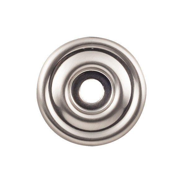 Brixton Backplate 1 3/8 Inch - Brushed Satin Nickel Interior Modern Shed Kitchen Bathroom Door Metal Knob Lock Hardware