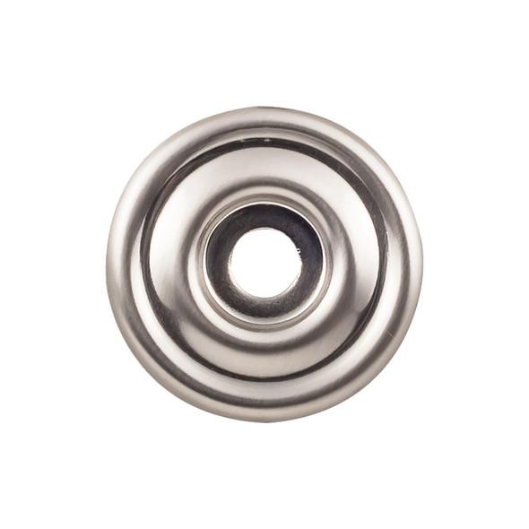 Brixton Backplate 1 3/8 Inch - Brushed Satin Nickel Interior Modern Shed Kitchen Bathroom Door Metal Knob Lock Hardware