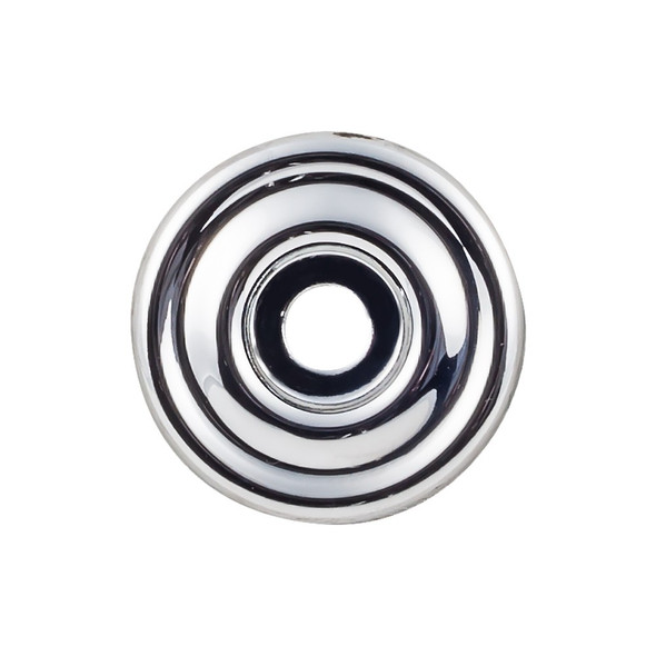 Brixton Backplate 1 3/8 Inch - Polished Chrome Interior Modern Shed Kitchen Bathroom Door Metal Knob Lock Hardware