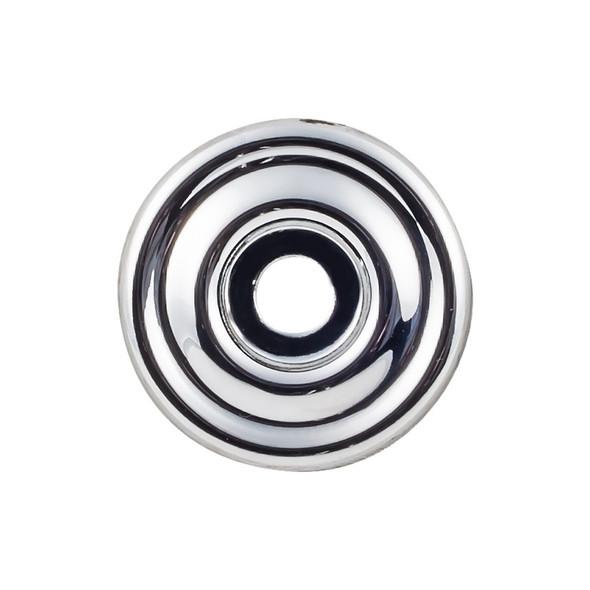 Brixton Backplate 1 3/8 Inch - Polished Chrome Interior Modern Shed Kitchen Bathroom Door Metal Knob Lock Hardware