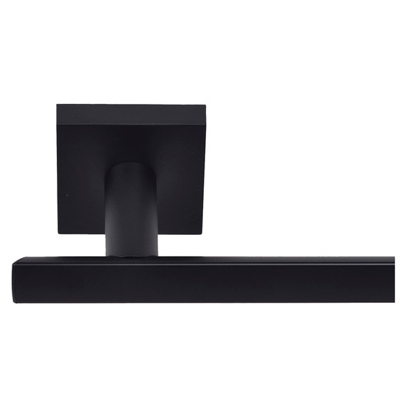Matte Black Santa Cruz Towel Bar from Santa Cruz Bathroom accessories collection by Better Home Products