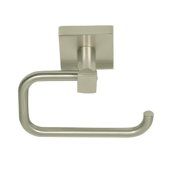 Satin Nickel Santa Cruz Euro Paper Holder 9107SN from Santa Cruz Bathroom accessories collection by Better Home Products