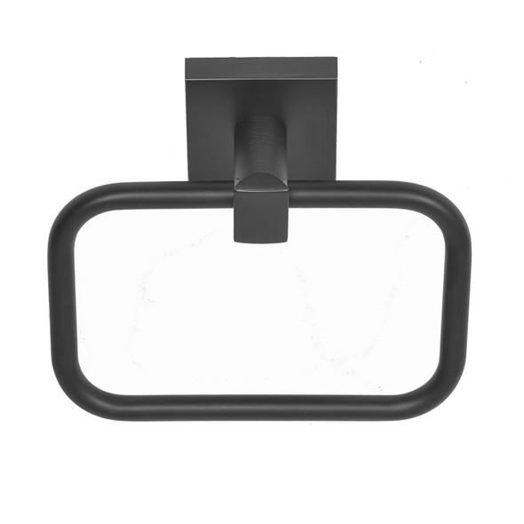 Matte Black Santa Cruz Towel Ring 9104BLK from Santa Cruz Bathroom accessories collection by Better Home Products