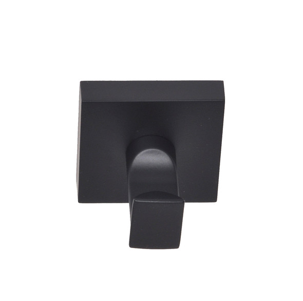 Matte Black Santa Cruz Robe Hook 9101BLK from Santa Cruz Bathroom accessories collection by Better Home Products