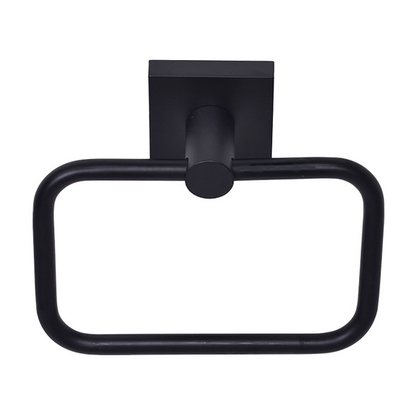 Matte Black Tiburon Towel Ring 9504BLK  from Tiburon Bathroom accessories collection by Better Home Products