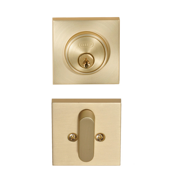 Satin Brass Low Profile Deadbolt