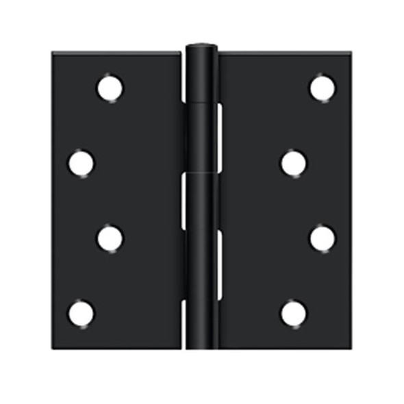 4 x 4 x sq exterior door hinge matte black