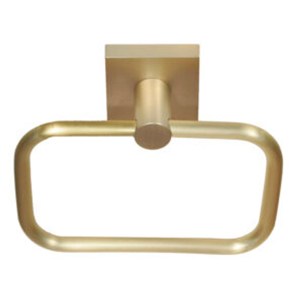 Tiburon Satin Brass Towel Ring