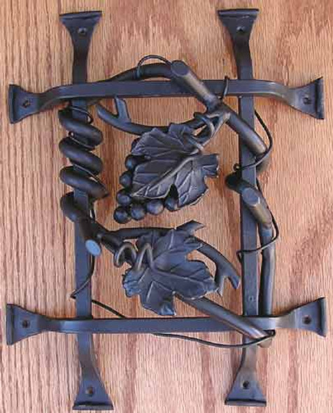 Grapevine Cluster Grilles- Dark Bronze by Agave Ironworks