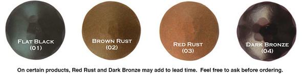 Agave Ironworks hand forged hammered custom decorative door hardware finish samples