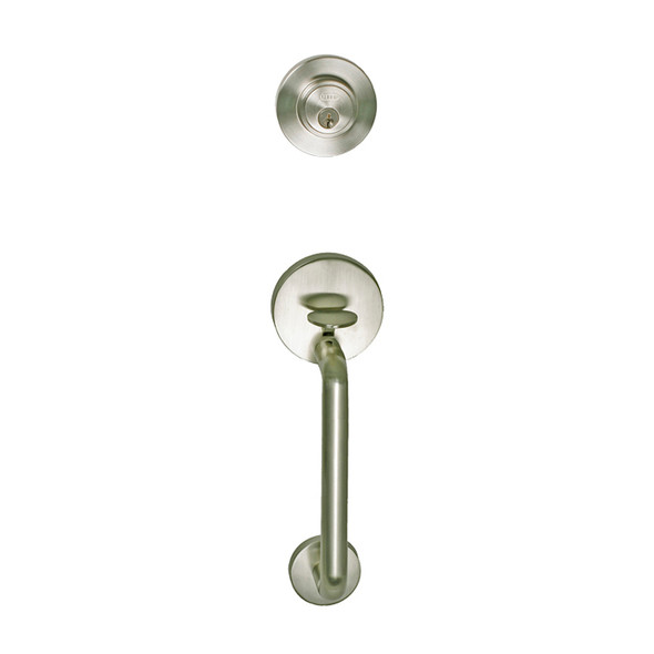 Satin Nickel Skyline Blvd. Front Door Handleset
