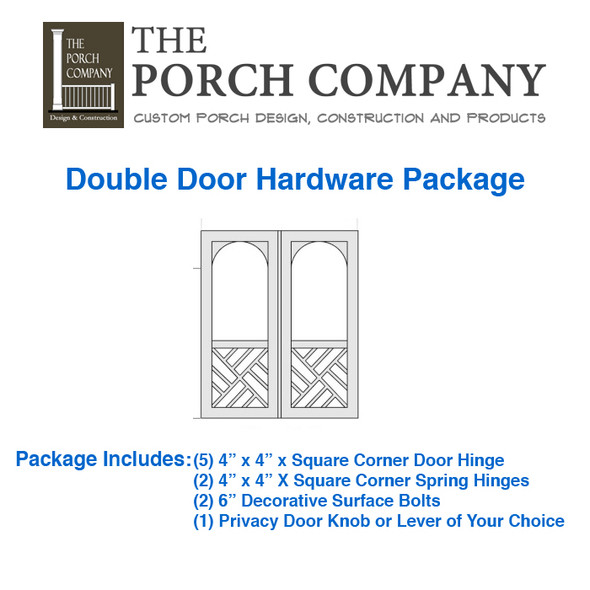The Porch Company Nashville, TN Custom Screen Door Hardware Package By Complete Home Hardware