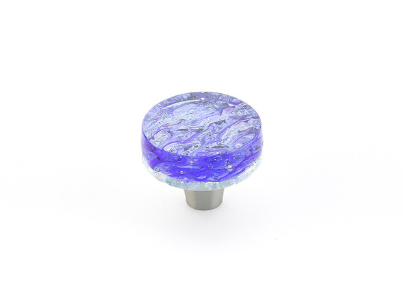 "Schaub and Company Ice collection Blue Pearl, 1-1/2"" dia Round Cabinet Knob"
