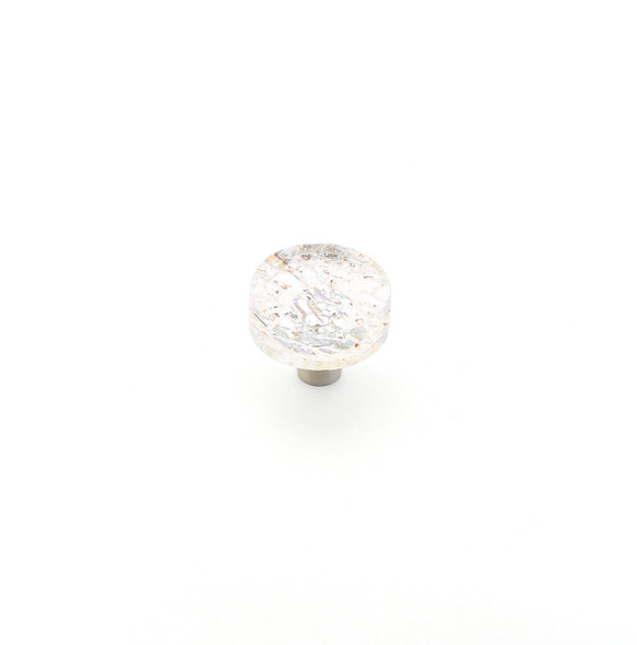 "Schaub and Company Ice collection Clear Pearl, 1-1/2"" dia Round Cabinet Knob"