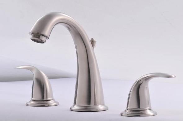 921-3455: Brushed Nickel WIDESPREAD TWO-HANDLE LAVATORY bathroom sink FAUCET Hardware-House
