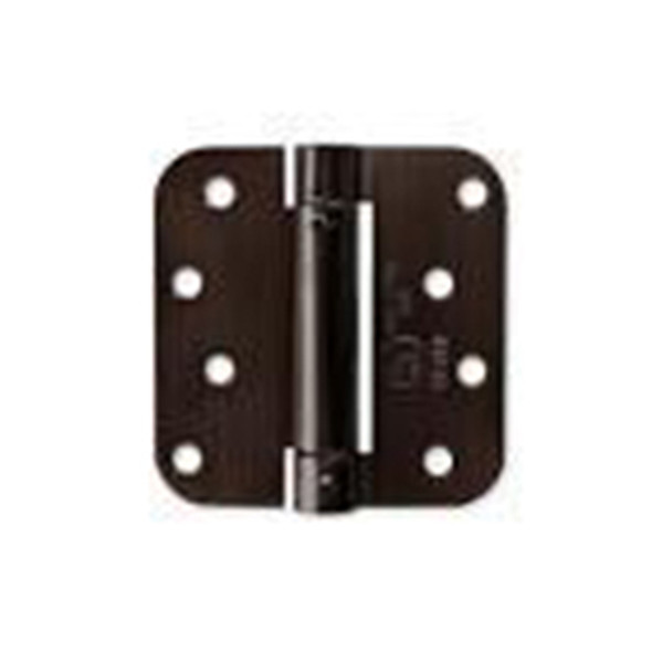 "Dark Oil Rubbed Bronze US10B 4"" X 4"" X 5/8"" Radius Corner Self-Closing Adjustable Spring Hinge"