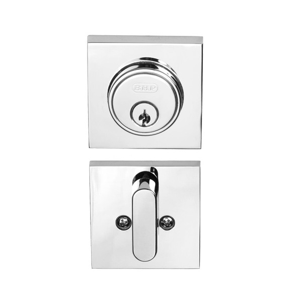Chrome Single Cylinder Tiburon Low Profile Deadbolt