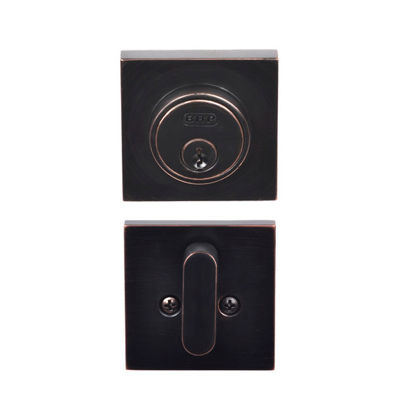 Dark Bronze Single Cylinder Tiburon Low Profile Deadbolt